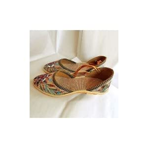 Multicolor mojri shoes