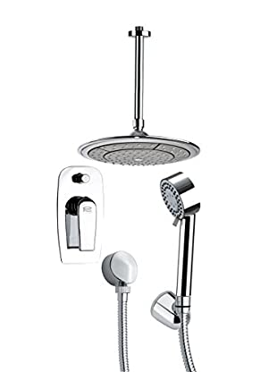 Remer By Nameek's 4-Piece Orsino Round Ceiling-Mounted Shower Set, Chrome