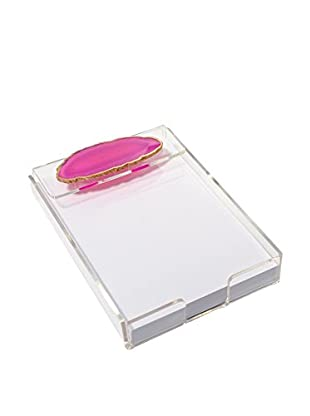 Mapleton Drive Pink Agate & Acrylic Notepad Tray