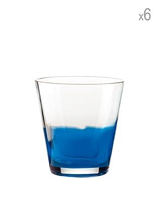 Guzzini Set 6 Bicchieri Acqua Mirage Blu