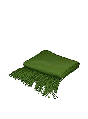 PÜR Cashmere Signature Blend Throw, Wheatgrass