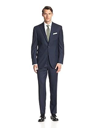 Lanza Men's Tonal Check Solid Suit