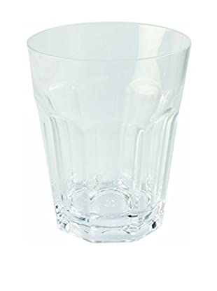 Faceted Double Old Fashioned Glass, Clear