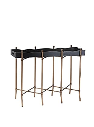 Artistic Lighting Tray Style Console, Gold/Black
