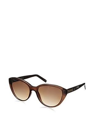 Escada Women's SES266 Sunglasses, Shiny Transparent Brown