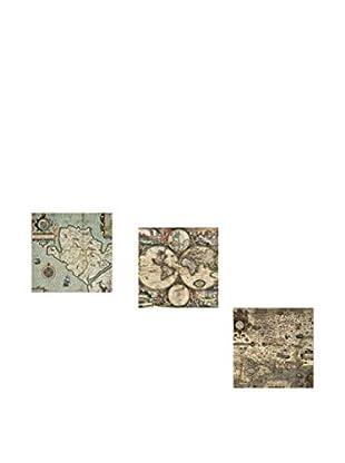 Dekorjinal Set, 3-teilig dekoratives Bild (mehrfarbig)