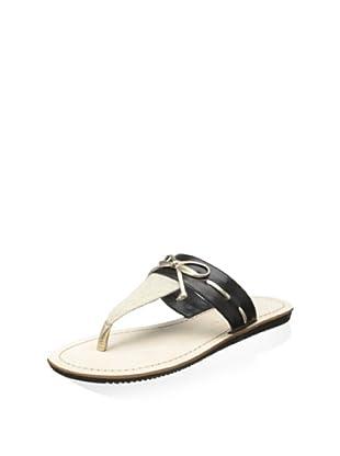 Elie Tahari Women's Nala Sandal (Natural/Black/Pl Gold)