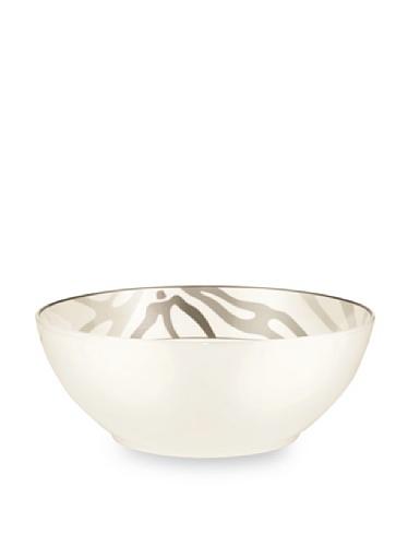 Noritake Everyday Elegance Campania Large Round Bowl (White/Taupe)
