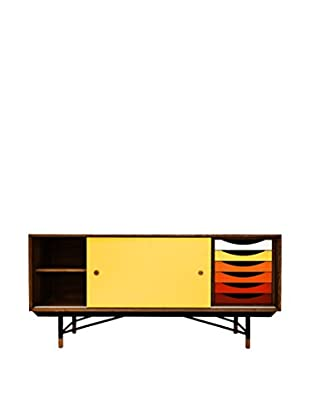 Kardiel 1955 Color Theory Mid-Century Modern Sideboard Credenza, Walnut