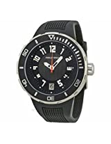 Philip Stein Extreme Black Dial Black Rubber Strap Mens Watch 34-Bb-Rb