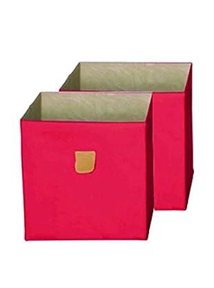 phoenix home Set, 2-tlg. Aufbewahrungsbox pink