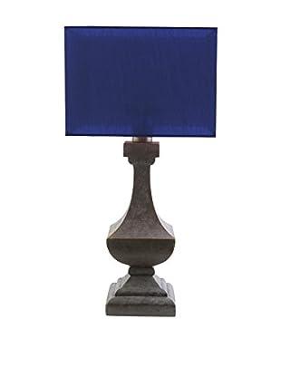Surya Davis Outdoor Table Lamp, Navy/Antique Pewter