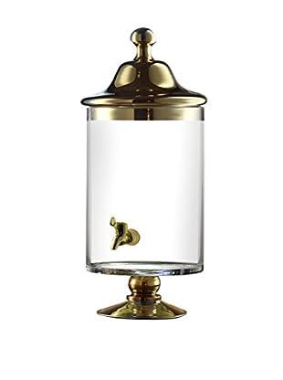 Jay Imports Bella Beverage Dispenser, Gold, Clear, 145-Oz.