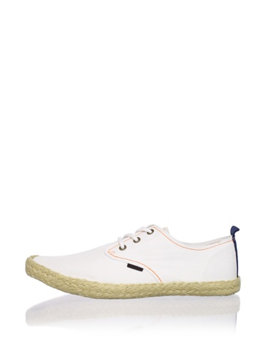 Ben Sherman Men's Pril Lace-Up Espadrille (White)