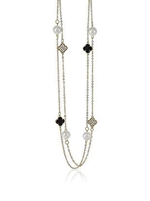 Inori Halskette Celebration gelbgold/schwarz/beige