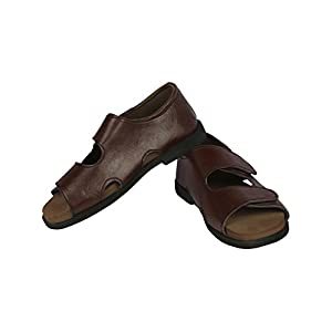 Panlin Orthopedic & Diabetic Footwear : Sandal For Gents (Leather & MCP) Size 7