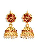 Bewitching Gold N Red Jhumka