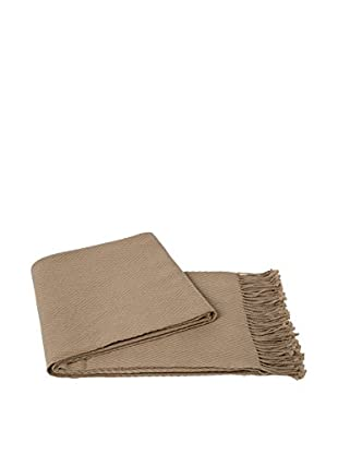 a & R Cashmere Cashmere & Wool Blend Chevron Throw, Oat
