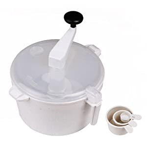 Tosaa Plast Dough Maker Machine with Free Measuring Cups, White