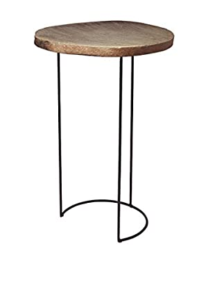 Artistic Lighting Stone Slab & Wire Frame Table, Natural