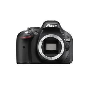 Nikon D5200 24.1 MP Digital SLR Camera Body Only (Black), Memory Card and Carry Case