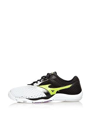 Mizuno Sneakers Minimalistas Wave EVO Cursoris (Bianco/Lime/Antracite)