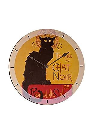 Artopweb Reloj De Pared Chat Noir