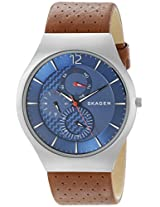 Skagen Grenen Chronograph Blue Dial Men's Watch - SKW6161