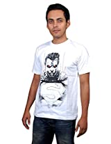 UberPlush Men's Casual T-Shirt UPRN10024WSM ( White )