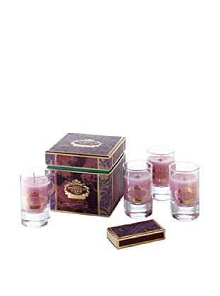 Portus Cale Set of 4 2.6-Oz. Antique Rose Candles