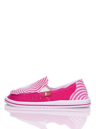 Wax Mocasines Playa Summer Line (Fucsia / Blanco)