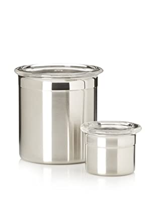 BergHOFF Studio 2-Piece Stainless Steel Canister Set, Silver