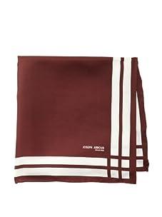 Joseph Abboud Men's Stripes Pocket Square, Wine