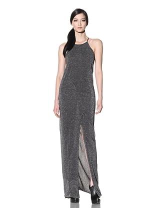 Improvd Women's Lurex Maxi Dress (Silver)
