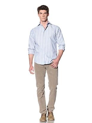 GANT by Michael Bastian Men's Stripe Spread Collar Shirt (Eclipse)