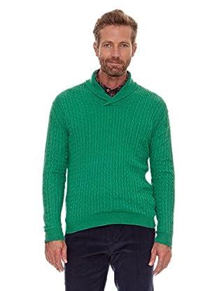 Cortefiel Jersey Trenzas (Verde)
