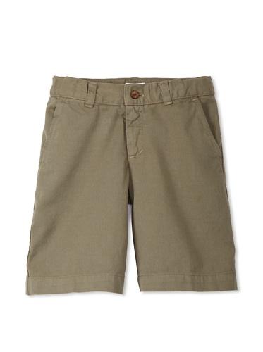 Neige Boy's Palmerston Twill Short (Army)
