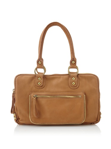 Linea Pelle Women's Dylan Tri-Zip Satchel (Scotch)