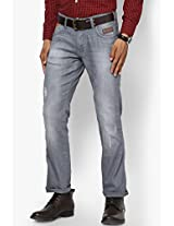 Grey Low Rise Slim Fit Jeans Wrangler