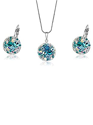 Swarovski Elements by Bohemian Love Story Set blau/wei脽 42 cm