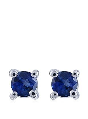Divas Diamond Pendientes Zafiro Plata