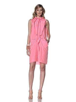 MARNI Women's Sleeveless Draped Dress (Fluorescent Pink)