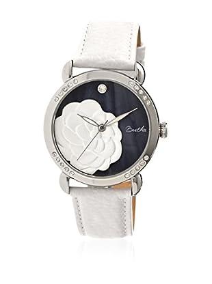 Bertha Uhr mit Japanischem Quarzuhrwerk Daphne weiß 41 mm