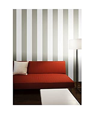 Tempaper Stripe Removable Wallpaper, Grey