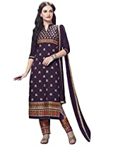 Kvsfab Purple Pure Cotton Cambric Salwar Kameez