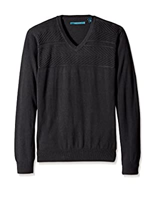 Perry Ellis Men's Long Sleeve V-Neck Sweater