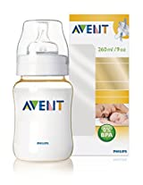 Philips Avent 9 Ounce/260ml Feeding Bottle (Single Pack)