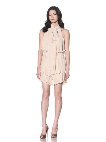 Foley + Corinna Women's Trapeze Tiered Mini Dress (Champagne)