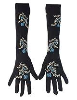 Romano Women's Black Long Hand Gloves