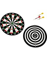 Looks Double Sided Dart Board Game Quality As Per International Standard With 4 Darts Size 14""
